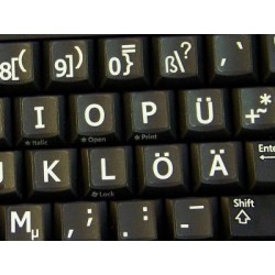 German Large Lettering Upper case keyboard stickers
