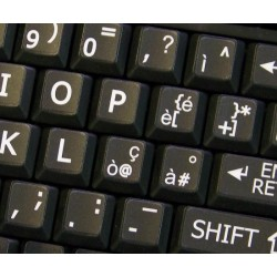 Italian Large Lettering keyboard stickers