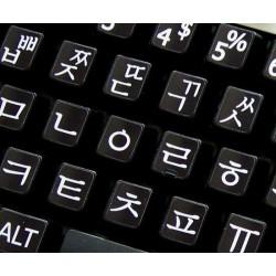 Korean Large Lettering keyboard stickers