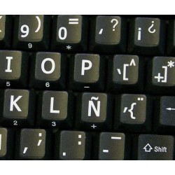 Spanish Large Lettering keyboard stickers
