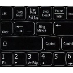Function keys Spanish language non-transparent keyboard sticker