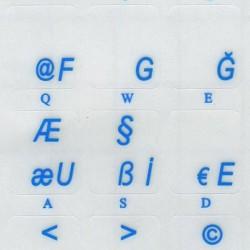 Turkish F transparent keyboard  stickers