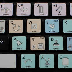 Belgian French non-transparent keyboard stickers 15x15