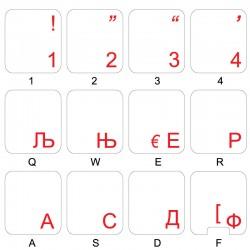 Armenian transparent keyboard stickers 14x14