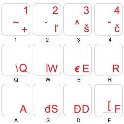Slovak transparent keyboard...