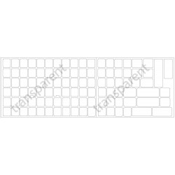 Chinese transparent keyboard  stickers 14x14