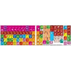 Danish transparent keyboard  stickers 14x14