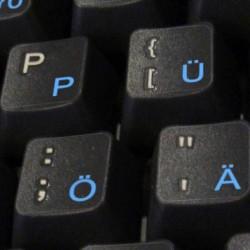 German transparent keyboard sticker