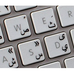 Apple Arabic transparent keyboard sticker