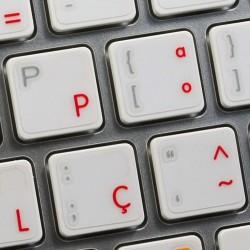 Apple Portuguese transparent keyboard sticker