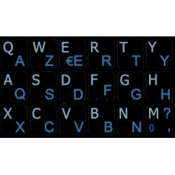 French AZERTY-English Notebook keyboard sticker