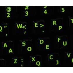 Glowing fluorescent Dvorak - English keyboard sticker