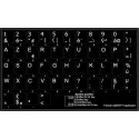 French AZERTY non transparent keyboard stickers