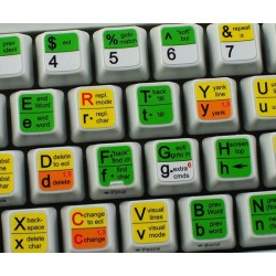 Vi and Vim keyboard sticker