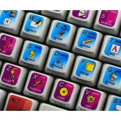 Autodesk AutoCAD keyboard sticker
