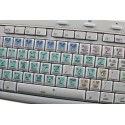 GIMP Galaxy series keyboard sticker 12x12 size
