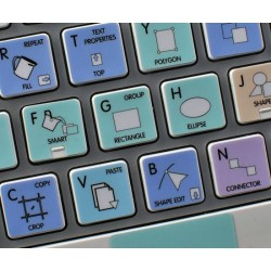 CorelDRAW Galaxy series keyboard sticker