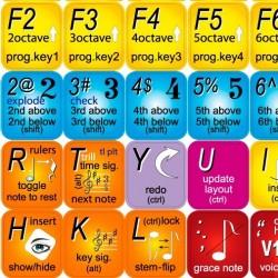 FINALE keyboard sticker