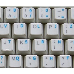 French Bepo transparent keyboard stickers