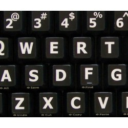English US Large Lettering Upper case keyboard stickers