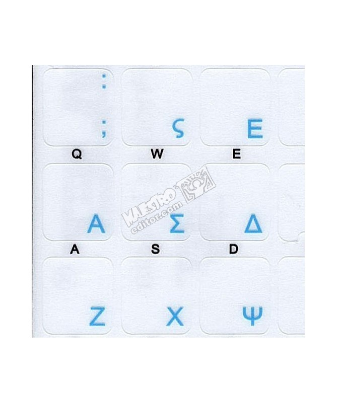 Greek Standard transparent keyboard stickers