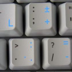 Dutch transparent keyboard...