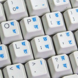 Hindi transparent keyboard...
