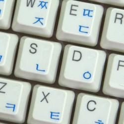 Korean transparent keyboard...