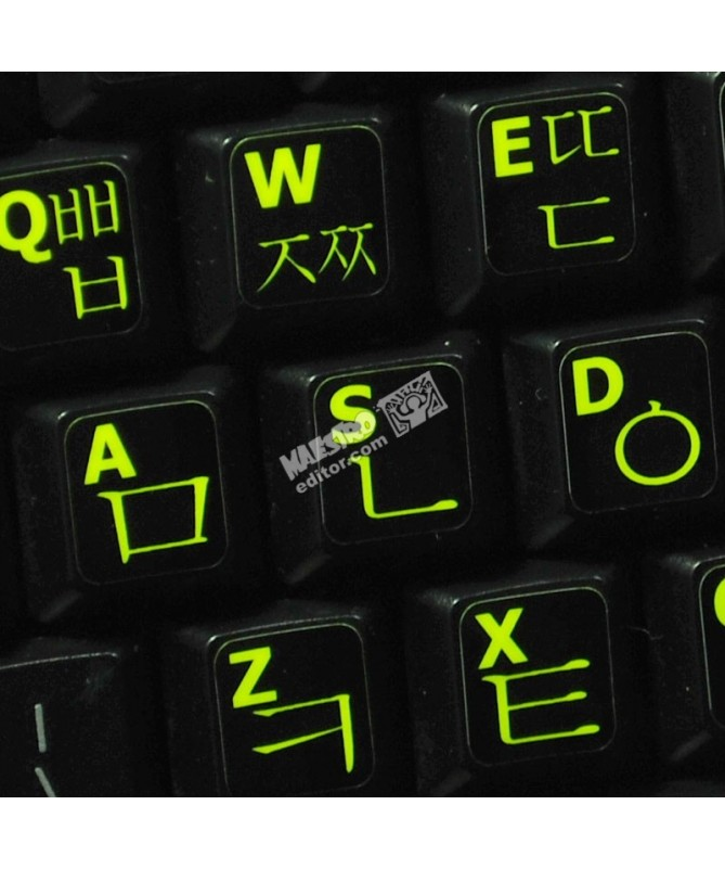 2534175a63e Glowing fluorescent Korean English keyboard sticker