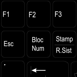 ITALIAN NON-TRANSPARENT KEYBOARD STICKER BLACK