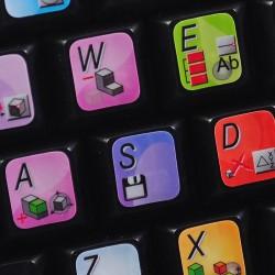 VariCAD keyboard sticker