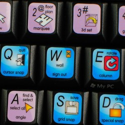 ARCHICAD keyboard sticker