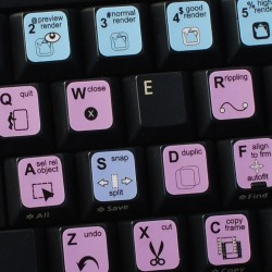 MoviePlus keyboard sticker