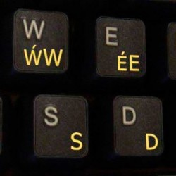 Welsh transparent keyboard...