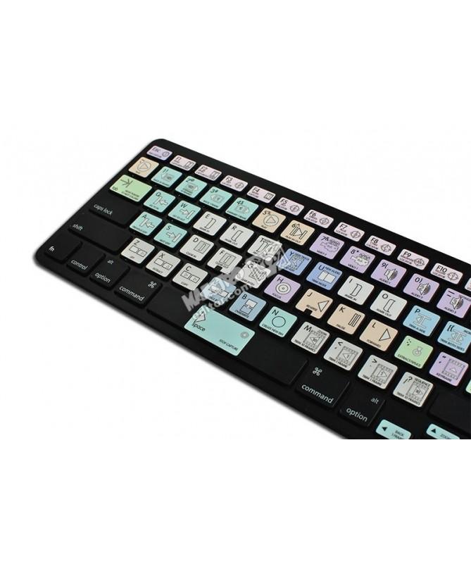 Avid Media Composer & Symphony Nitris Galaxy series keyboard sticker apple size