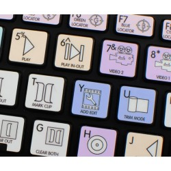 Avid Media Composer Galaxy series keyboard sticker apple size