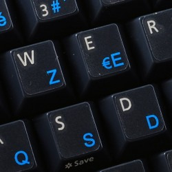 French AZERTY transparent...