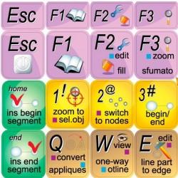 Embird studio keyboard sticker