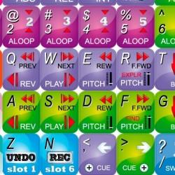 SCRATCH LIVE keyboard sticker